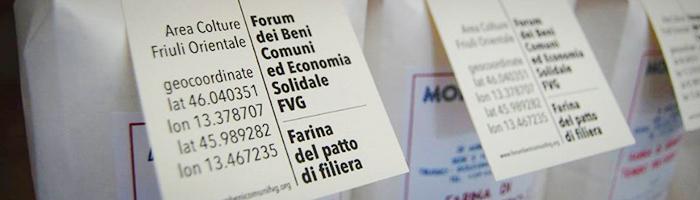 Confezioni di farina del patto di filiera